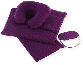 Sofia Cashmere Cashmere Cable-Knit Travel Gift Set