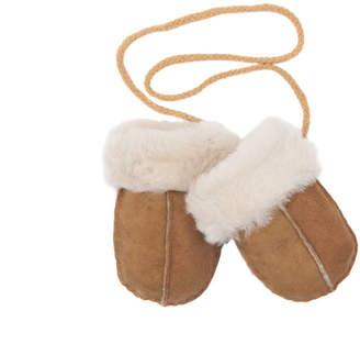 Baa Baby Baby Sheepskin Puddy Mittens On String