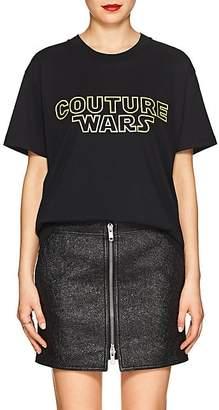 "Moschino Women's ""Couture Wars"" Cotton T-Shirt - Black"