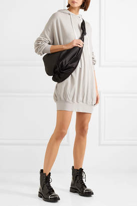 Unravel Project - Terry Cotton And Cashmere-blend Mini Dress - Light gray