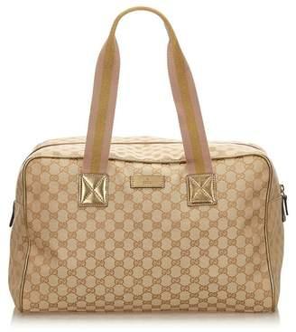 Gucci Vintage Guccissima Jacquard Travel Bag