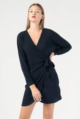 Azalea V Neck LS Wrap Mini Dress