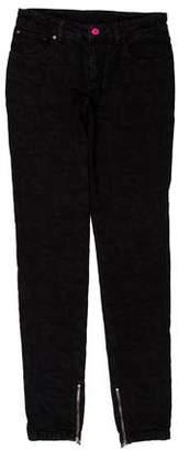 Louis Vuitton Mid-Rise Patterned Jeans