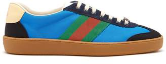 Gucci Web nylon and suede trainers