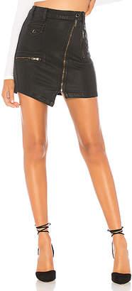 Hudson Jeans High Rise Moto Skirt.