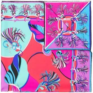 Emilio Pucci tassel print scarf