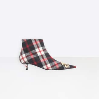 Balenciaga Pointed toe wool booties with kitten heel