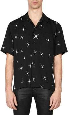 Saint Laurent Electric Star Button-Down Shirt