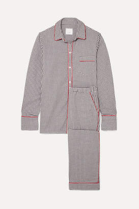 Three J NYC Halle Checked Cotton-flannel Pajama Set - Gray