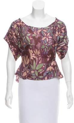 Marni Silk Flora Top