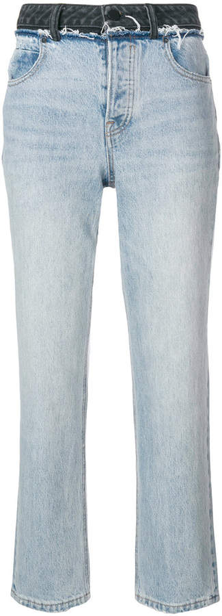 T By Alexander Wang cropped straight-leg jeans