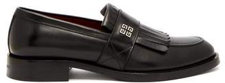 Givenchy 4g Logo Fringed Leather Loafers - Mens - Black