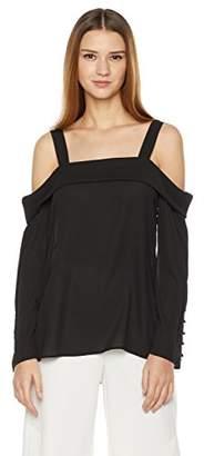 Essentialist Women's Off Shoulder Slit Sleeve Blouse