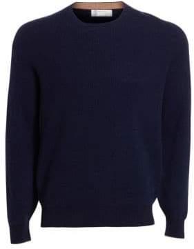 Brunello Cucinelli Cashmere, Silk& Wool Crew Sweater