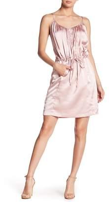 Vertigo Satin Tie Waist Dress