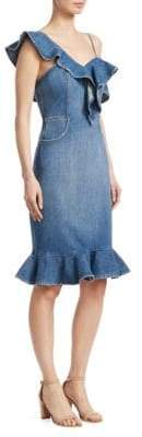 Jonathan Simkhai Denim Ruffle Dress