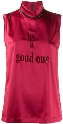 Brunello Cucinelli 'Be A Good One' blouse