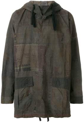 Ziggy Chen patterned oversized wind breaker jacket