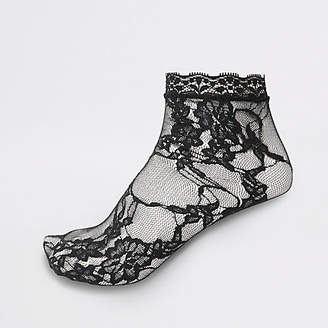 River Island Black lace ankle socks