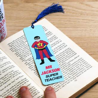 nickynackynoo Superteacher Personalised Bookmark Teacher Gift