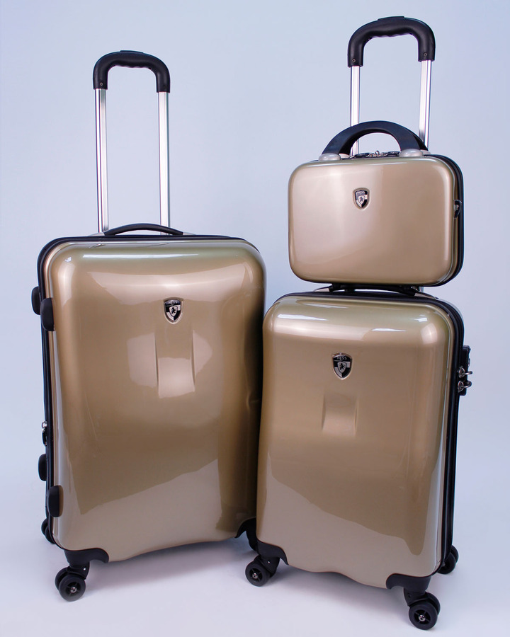 Heys Three-Piece Spinner Set with Packing Cubes