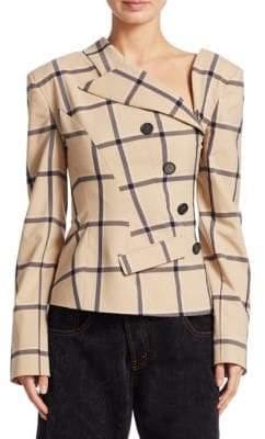 Monse Lous Plaid Twisted Wool Jacket