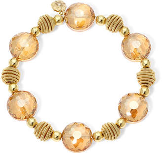JCPenney MONET JEWELRY Monet Yellow Stone Gold-Tone Stretch Bracelet