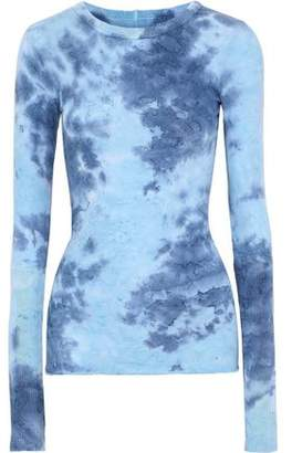 Enza Costa Tie-Dyed Cotton And Cashmere-Blend Top