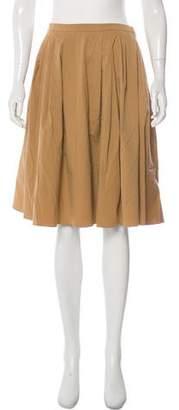 Michael Kors Pleated Knee-Length Skirt