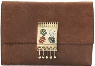 Missoni Brown Leather Clutch Bag