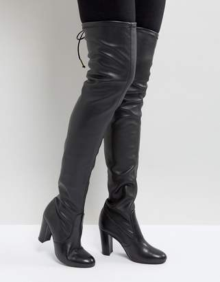 Dune Sybil Leather Over Knee Boots