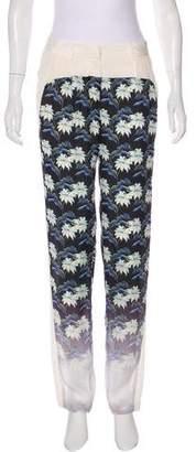 Rebecca Minkoff Silk Mid-Rise Pants