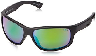 Revo Baseliner RE 1006 01 OR Polarized Wrap Sunglasses, Matte Black/Open Road, 61 mm $189 thestylecure.com