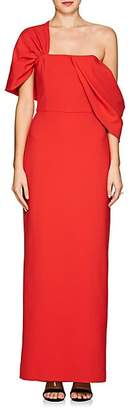 Osman Women's Draped Crepe One-Shoulder Gown - Red