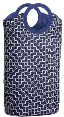 Pottery Barn Teen Easy Carry Laundry Bag, Navy Geo Rings
