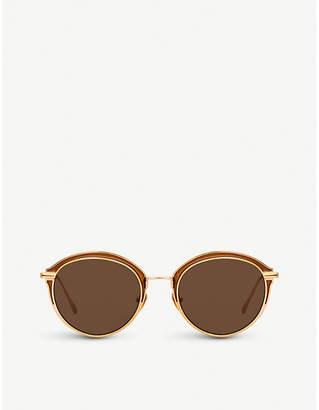Linda Farrow 935 C7 titanium oval-frame sunglasses