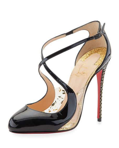 Christian Louboutin  Christian Louboutin Crossettinetta Patent Red Sole Pump, Black