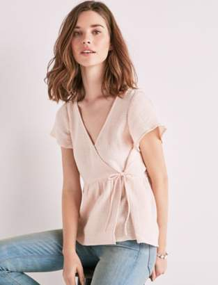 Lucky Brand GAUZE WRAP TOP