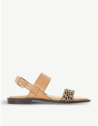 Dune Black Leorra leather sandals