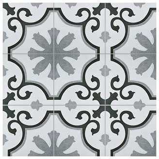 EliteTile SAMPLE - Nouvelle Ceramic Field Tile in Gray/White