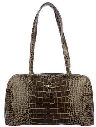 Longchamp Embossed Roseau Shoulder Bag