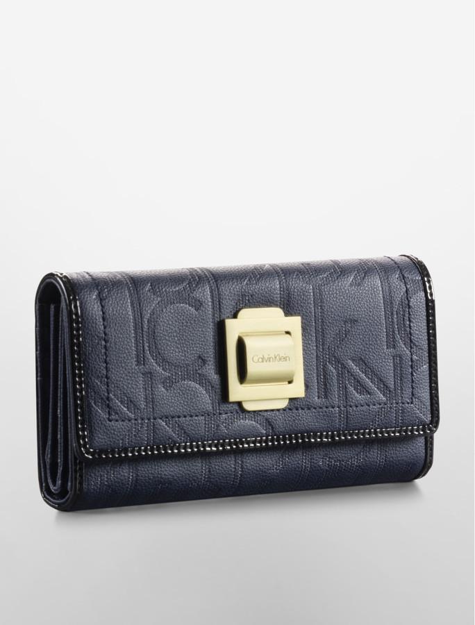Calvin Klein Parker Trifold Mega Continental Wallet
