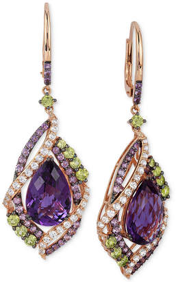 LeVian Le Vian Crazy Collection Multi-Stone Drop Earrings (12-3/4 ct. t.w.) in 14k Rose Gold, Created for Macy's