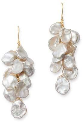 Bloomingdale's Cultured Freshwater Keshi Pearl Cluster Drop Earrings in 14K Yellow Gold - 100% Exclusive