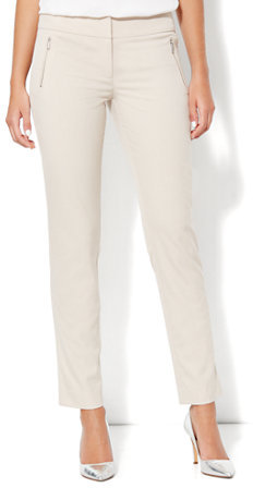 New York & Co. Zip-Front Ankle Pant