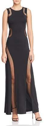 GUESS Anetta Fishnet-Inset Maxi Dress