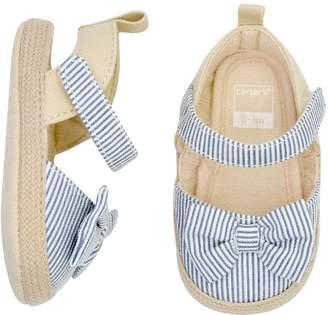 Carter's Baby Girl Striped Espadrille Sandal Crib Shoes