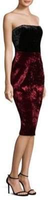 Black Halo Rumor Strapless Velvet Dress