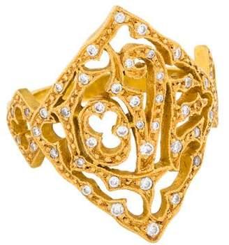 Cathy Waterman 22K Diamond Love Ring