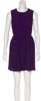 Anna Sui Lace Mini Dress Purple Lace Mini Dress